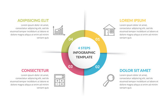 Circle Infographics - Four Elements