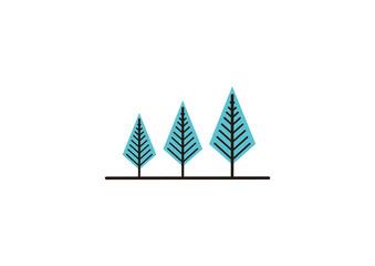 Flat Pine Tree Template