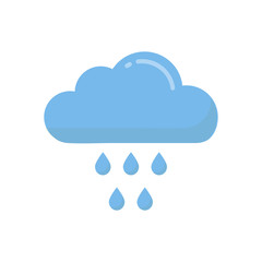 cartoon rainy cloud vector