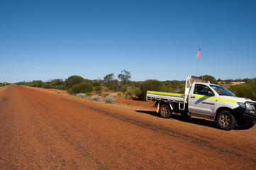 Remote Road in the Outback