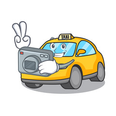 Photographer taxi character mascot style