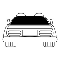 sport car icon over white background, vector illustration