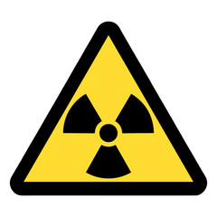 Standard Pictogam of Ionizing radiation Symbol, Warning sign of Globally Harmonized System (GHS)