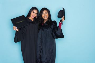 Two Girls Graduation From School