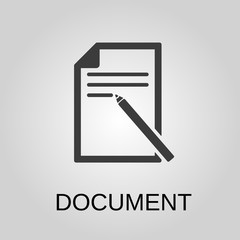 Document icon. Document symbol. Flat design. Stock - Vector illustration