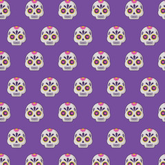 background of Sugar skulls pattern, vector illustration design