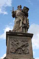 Man sculpture from St Angelo bridge in Rome, Italy.