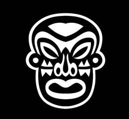 Black and White Mask Sticker, art vector design