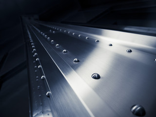 Silver Metal texture rivets Pattern Industrial background