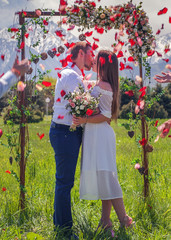 wedding couple just married, get marriage in New Zealand
