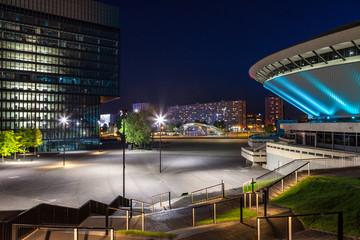 Katowice Rondo nocą