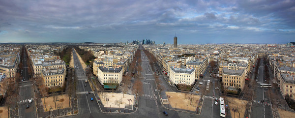 Paris panorama from Arch de Triumph