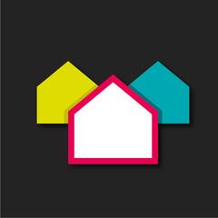 fond abstrait maison