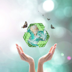 Waste recycle management, eco friendly concept: Elements of this image furnished by NASA