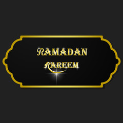 Banner calligraphy, ramadan kareem islam