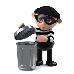 3d Burglar goes through your trash