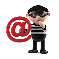 3d Burglar steals someones email address
