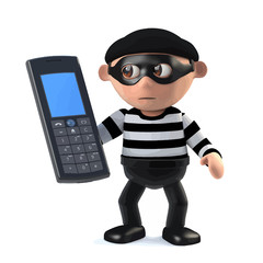 3d Burglar has stolen a cellphone