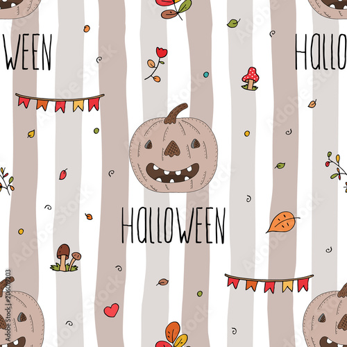 Happy Halloween Print With Pumpkin Printable Templates Stock Image