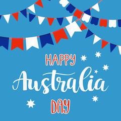 Inscription Happy Australia day