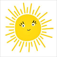 Cute vector set of Sun icons.