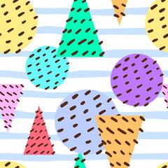 abstract seamless pattern, memphis pattern