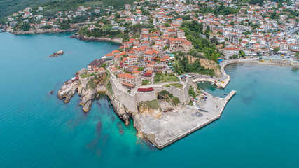 Aerial view of the old town Ulcinj