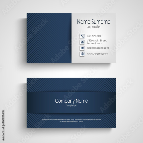 Business card with blue pattern design stock image and royalty free business card with blue pattern design fbccfo Gallery