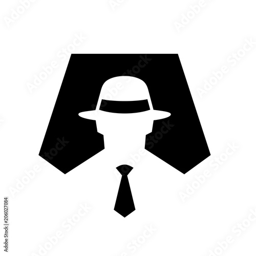 94711bcd Spy Symbol Icon Illustration, Anonymous, Secret Agent, Hacker, Mysterious,  Incognito Sign Vector Illustration