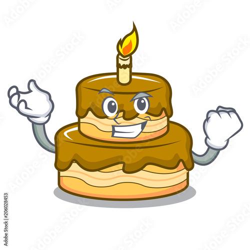 Successful Birthday Cake Character Cartoon