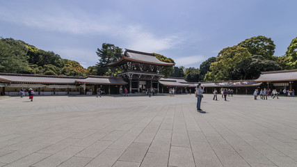 Beautiful view of the Meiji Shinto Shrine in central Tokyo, Japan