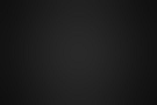 Abstract Black gradient background. Blurry dark grey backdrop. Defocused display for your design