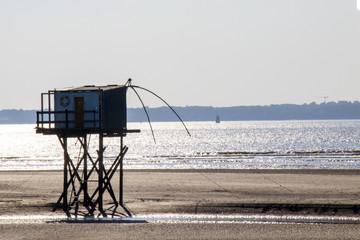 Saint Brévin les Pins. Pêcherie en front de mer. Loire-Atlantique. Pays de Loire