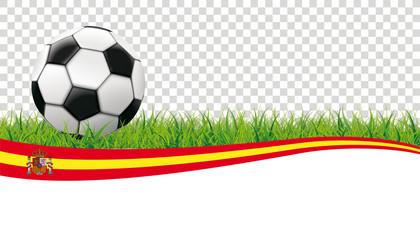 Football Grass Header Spain Transparent