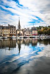 Foto auf AluDibond Schiff Old port of Honfleur, Normandy, France