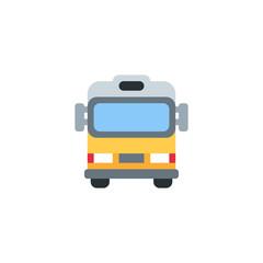 Oncoming Bus, City transport, Passenger bus, transportation vector illustration flat icon symbol cartoon style emoticon