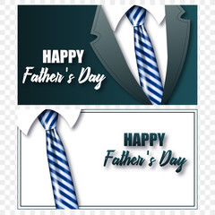 Cards or postcards Father's Day tie with realistic tie