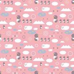 Antarctic background. Seamless pattern.Vector. 南極のパターン