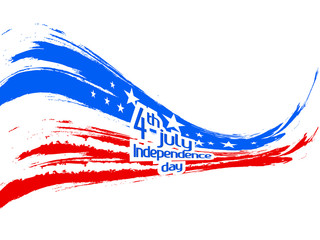 nice and beautiful abstract or poster for 4th of July or Independence Day of USA with nice and creative design illustration.