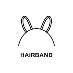 hairband icon. Element of women accessories with names icon for mobile concept and web apps. Thin line hairband icon can be used for web and mobile. Premium icon