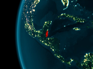 Night view of Belize