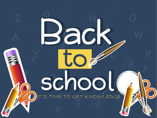 nice and beautiful abstarct or poster for Back to School with nice and creative design illustration.