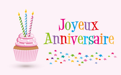 Cupcake joyeux anniversaire-3