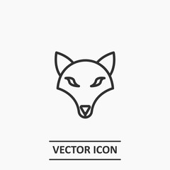 Outline wolf icon illustration,vector animal sign symbol