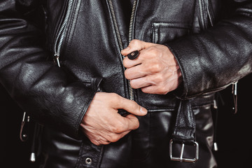 lock leather jackets