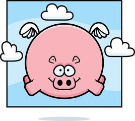 Cartoon Hippo in the Sky