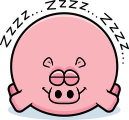 Cartoon Hippo Sleeping