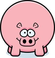 Happy Cartoon Hippo