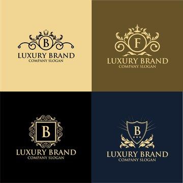 luxury crest logo hotel boutique restaurant vintage logo