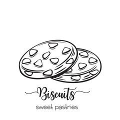 hand drawn biscuit